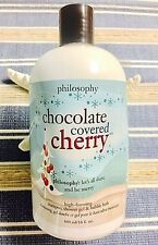 Philosophy Chocolate Covered Cherry  Shampoo Bubble Bath Shower Gel 16oz Sealed