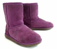 UGG Womens Original Kids Classic Short Sheepskin Boot - Purple US Size 3