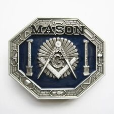 Mason Masonic Freemason Freemasonry Metal Belt Buckle