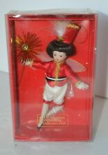 Christmas Ornament Porcelain Fairy Doll Collectors Club in Box #11