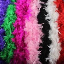 2M FEATHER BOA COSTUME ACCESSORY FANCY DRESS BURLESQUE SHOWGIRL DANCER 12 GOLOUR