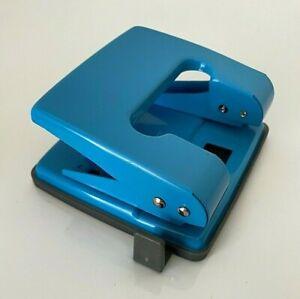 New Heavy Duty Metal Hole Punch 2 Hole Paper Puncher Desktop Blue/ Black/ Silver