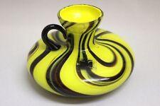 Murano Glasgefäß Carlo Moretti braun gelb 60er 70er Jahre