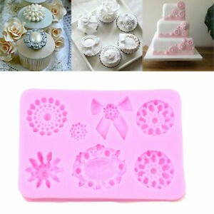 Candy Cake Cupcake Decor Mold DIY Brooch Bowknot Mould Silicone Fondant Craft