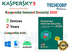 GENUINE New Kaspersky Internet Security Key 2020-3 DEVICES,2 YRS-Win/Mac/Android