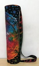 Multi Tie Dye India Handmade Hippie Gym Yoga Mat Carrier Bag With Shoulder Strap