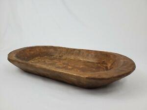 """Vintage Wooden Dough Trencher Bowl Primitive Farmhouse Decor 21 3/4"""""""