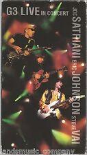 G3 - Live in Concert: Joe Satriani , Eric Johnson & Steve Vai  (VHS, Sony, 1997)
