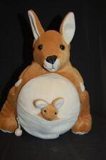 "Mama Baby Kangaroo Tum Tums CD Zipper Storage Case 12"" Plush Computer Disc"
