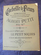 Partition Corbeille de fleurs Albert Petit Music Sheet Grand Format