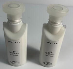 Eau Parfumee au the blanc by Bvlgari Body Lotion 3oz  (1.5oz x 2) New!