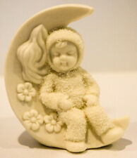 Sitting On the Moon Angel Baby On Moon Snowbabies Porcelain Classic # 68705