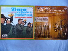 2 Vinyl-LPs: Trara es tönt wie Jagdgesang + Hunting Music Of Old Czech Masters