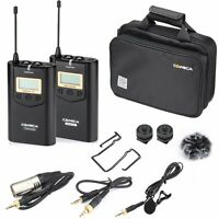 COMICA CVM-WM100 UHF 48 Channels Wireless Lavalier Microphone System for Camera