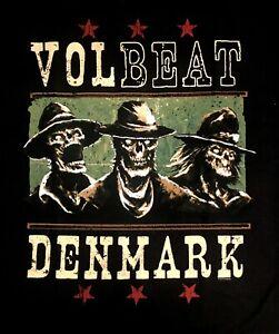 VOLBEAT cd lgo Group Skeletons DENMARK Official SHIRT LAST MED New OOP