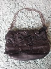 Amazing All Saints Leather Ruffle Handbag Black Excellent Condition