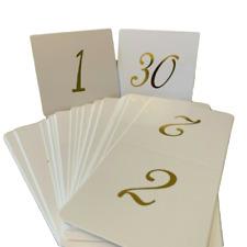 Números De Mesa De Estilo Vintage-tarjeta kraft con detalle de Oro Metálico-independiente