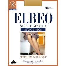 Elbeo 20 Denier Sheer Magic Stockings Factor 8 Barely Black - Medium