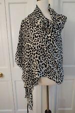 Lovely Beryll Cashmere Blend Scarf – Black Leopard – NWT - $389