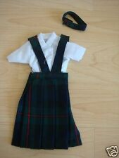 *NIP* 3 pc SCHOOL UNIFORM Dress Jumper Outfit Clothes for Barbie doll PLAID #88
