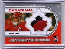 ANGELA JAMES 10/11 ITG Canadiana Team Canada Patch SP /30  Silver Rare 3-color