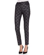 NYDJ Black Ami Super Skinny Diamond Print Jeans MQDJ33ECP334 Size 8