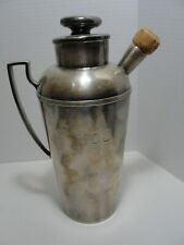 Antique Silver Plate EGW&S Drink Mixer Shaker with Monogram N.D.J.