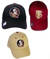 FSU Florida State Seminoles Structured Team Cap, Choose Hat Color NCAA Headwear