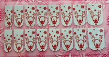 NAIL ART DECALS FOIL WRAPS CHRISTMAS RUDOLPH THE RED NOSE REINDEER & SNOW #993