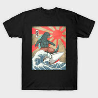 Surfing Japanese Monster Great Wave Off Kanagawa T Shirt Tee Cotton Trend 2021