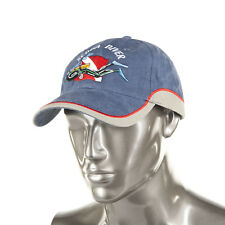 Trident Two-Tone Denim Baseball Cap with Embroidered SCUBA Diver