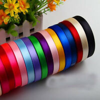 25 Yards Satin Ribbon Wedding Party Craft Sewing Gift Home Decor 10 Colors 6mm
