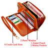 Women Wallet Long Leather Clutch Lady Phone Pocket Hasp Zipper Big Purse Fashion