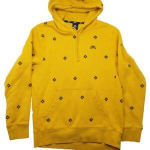 Nike SB Men's Small Yellow Nordic Skate Fleece Hoodie Sweatshirt BV0880