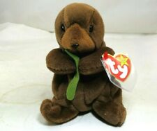 Ty Seaweed Beanie Baby With Tag Year 1996 Plush Toy Otter March 19th 1996