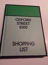 NUOVO Monopoly A6 NOTEBOOK Oxford Street SHOPPING LIST-Foderato pagine rilegato
