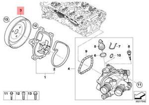 Genuine Mini Cooper R52 R55 R56 R60 2007 - 2012 Mini Water Pump Pulley