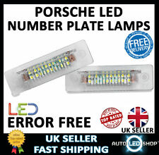 PORSCHE 986 BOXSTER SMD LED NUMBER PLATE LIGHTS LAMPS UPGRADE BULBS XENON WHITE