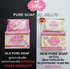 Jelly Gluta Pure Soap Face Body Skin Aura Whitening Anti Aging Dark Reduce Spots