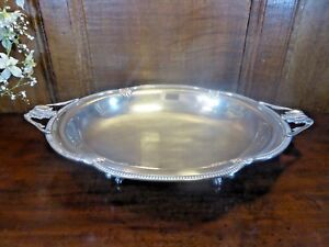 VGC Continental SILVER PLATED DISH - QUALITY HANDLES & FEET