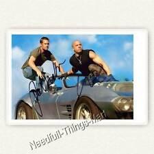 Paul Walker & Vin Diesel aus Fast & Furious   Autogrammfotokarte [A02] 