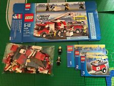 LEGO- CITY- FIRE TRUCK- 7239- USED- 100% COMPLETE W/ OPEN BOX