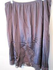 Ladies Half Slip 100% Nylon exclusive of decoration size 26-28 Black