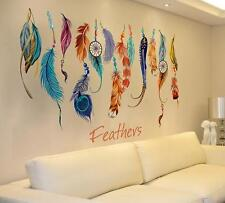 Living Room Classic Creative Dream Catcher Feather Wall Sticker Art Decal Mural