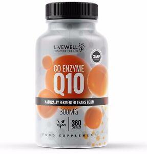 CoQ10 300mg Co Enzyme Q10 Vegan Capsules | Coenzymes – Antioxidant Heart Energy