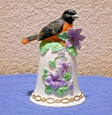 Heritage House Inc Music Box Bird on Bell with Purple Flowers Plays Fur Elise
