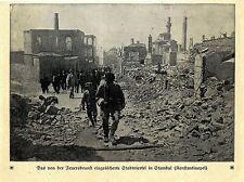 Türkei* Durch Feuersbrunst eingeäschertes Stadtviertel Stambul Bilddokument 1912