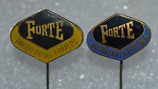 FORTE logo foto Hungarian photo film paper camera vtg pin badges Anstecknadel