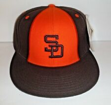 SAN DIEGO PADRES BROWN AND ORANGE FITTED M&N FITTED HAT SIZE 7 3/4 CAP NWT HAT
