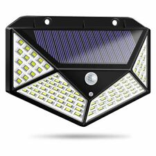 100 LED Solar Wall Lights Outdoor Waterproof Motion Sensor Infrared wall Light